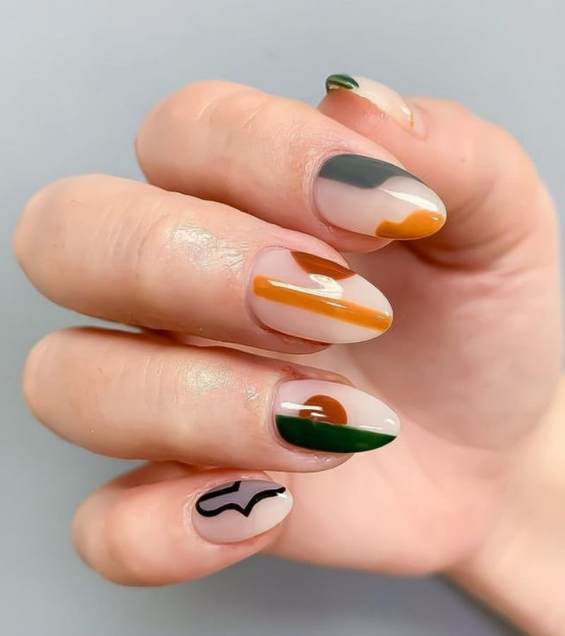 Abstract as Cute Fall Nail Designs