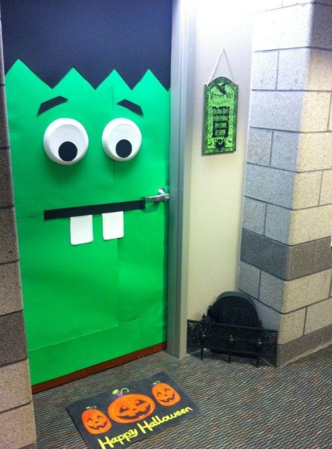 Halloween Dorm Door Decor