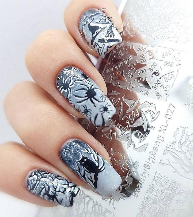 Halloween Nails Arcylic