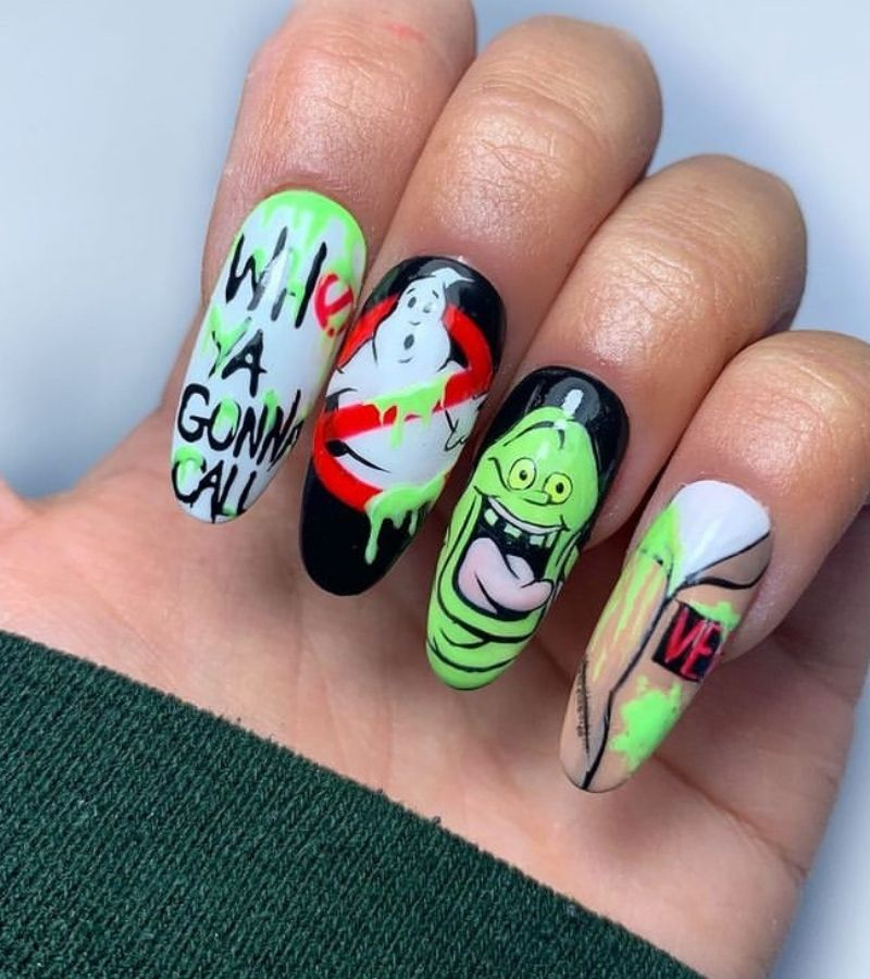 Ghostbusters Halloween Nails