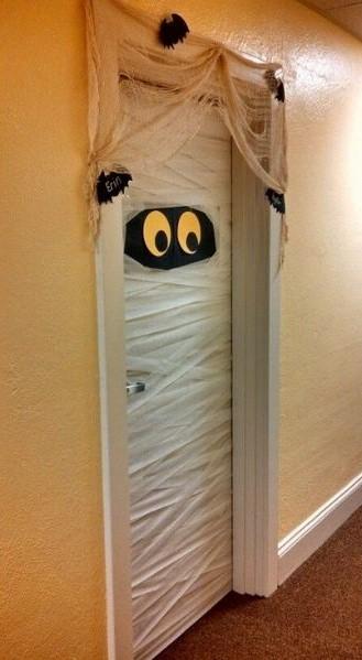 Dorm Halloween Door Decorations